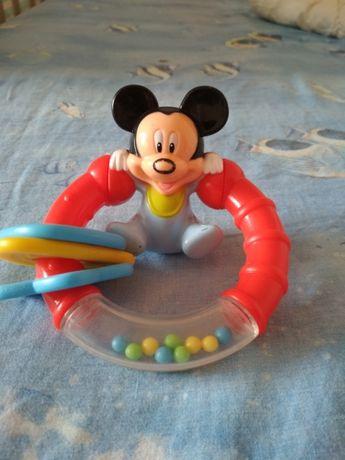 Развивающая погремушка игрушка Микки Маус