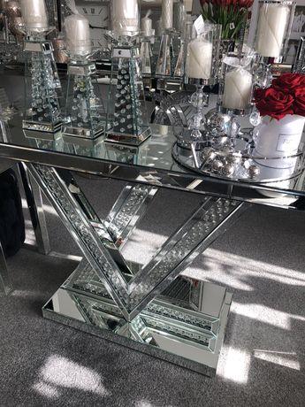 Konsola Louis Vuitton lustrzana Glamour Crystal