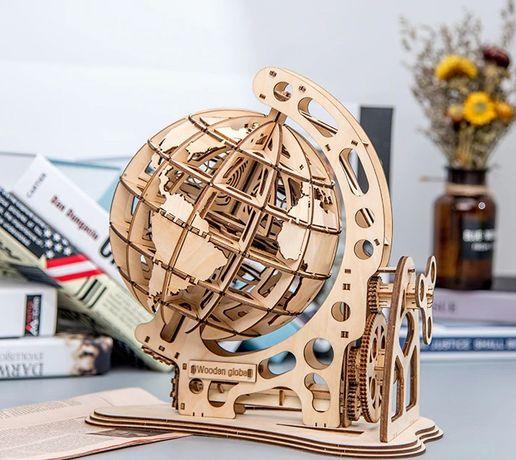 GLOBO TERRESTRE Mecânico - Puzzle de MADEIRA em 3D - ENVIO 24H
