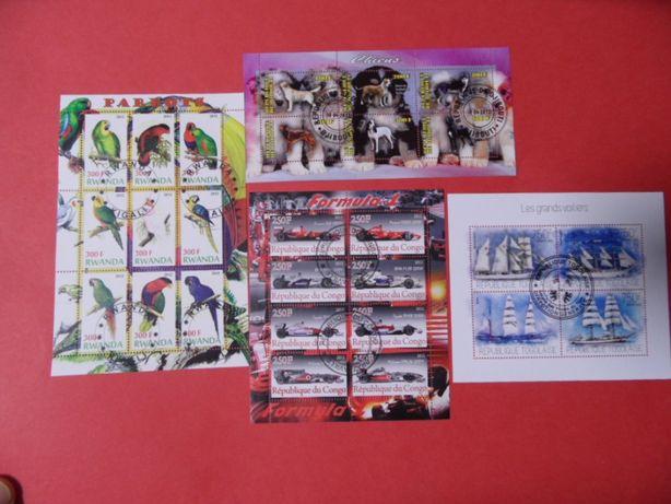 znaczki pocztowe bloczki arkusiki 30 szt. zestaw