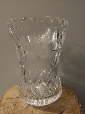 Stary kryształowy wazon PRL