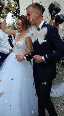 Piękna suknia ślubna. Szyta na miarę