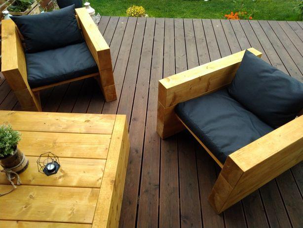 Nowoczesne meble ogrodowe z bala litego dbwood