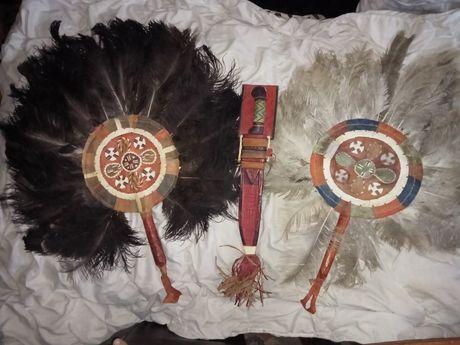 Nóż Maczeta Wachlarz plemienny Wachlarze plemion Asyria Afryka. Antyk
