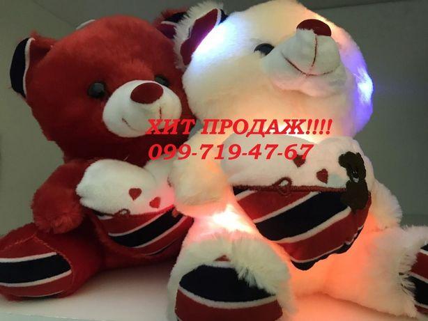 ПОДАРОК ЛЮБИМОЙ!! Мягкая игрушка светящийся мишка Тедди/ СПЕШИ