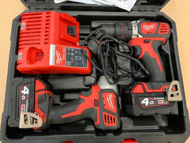 Набір гайкверт + шуруповерт акумуляторний MILWAUKEE BPP2Q-402C 18V 4.0