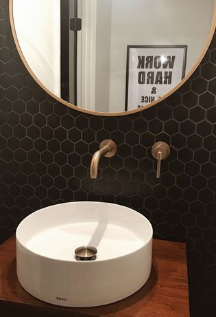 Mozaika ceramiczna heksagon czarny mat