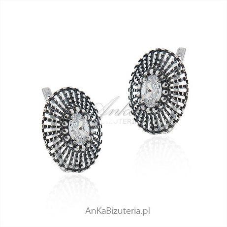 ankabizuteria.pl łańcuszek srebrny 50 cm Kolczyki srebrne z cyrkonią -