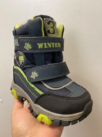 Зимние детские ботинки , термо , 24 р , в отличном состоянии