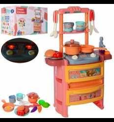 Большая Детская игровая кухня с посудой светится музыкальная