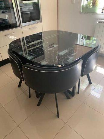 Mesa de vidro impecável + 4 cadeiras