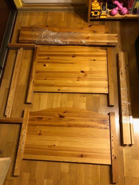 Drewniane łóżeczko dziecięce, wymiary: 90x120 cm