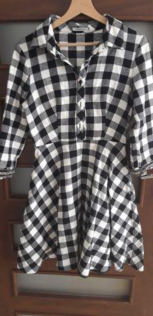 Sukienka firmy Lemonade, w czarno białą kratkę