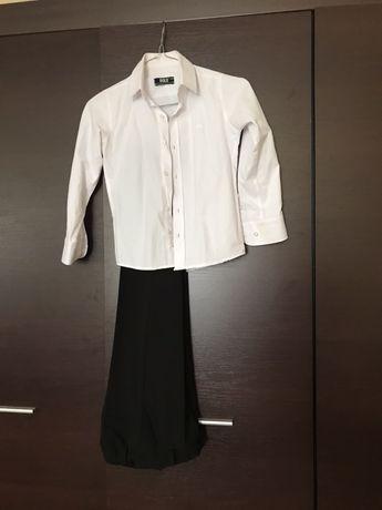 Белая рубашка на 6-7 лет
