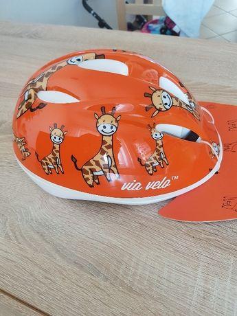 Nowy kask rowerowy dla dziecka roz. 52-55cm