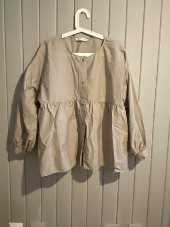 Zara- bezowa koszula, boho, r.L