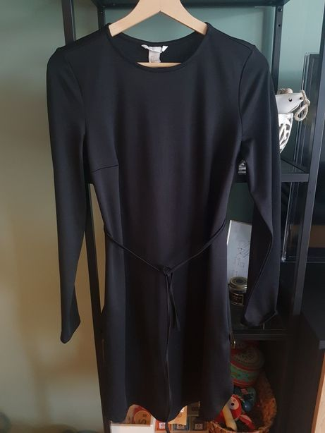Sukienka tunika ciążowa czarna Mama HM r. S