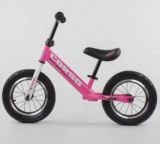 Велобег Corso НАДУВНОЕ КОЛЕСО Велосипед, детский велобег!Все цвета