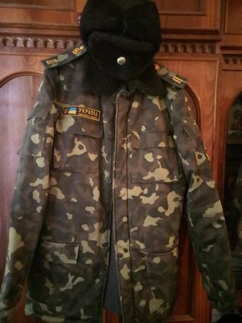 Учебная форма для военного лицея (камуфляж, зимний бушлат и шапки)
