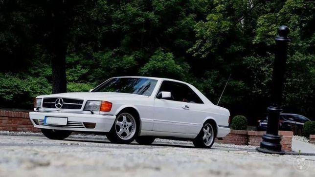 Auto do slubu mercedes retro w126 sec amg klimatyzacja biały