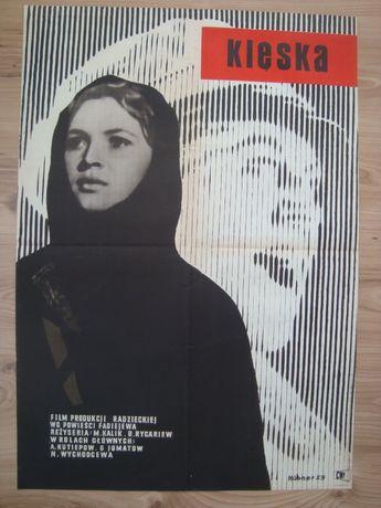 Rzadki plakat filmowy, Klęska, Maciej Hibner, 1959, plakat PRL, kinowy