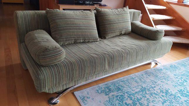 Sofa rozkładana zielona