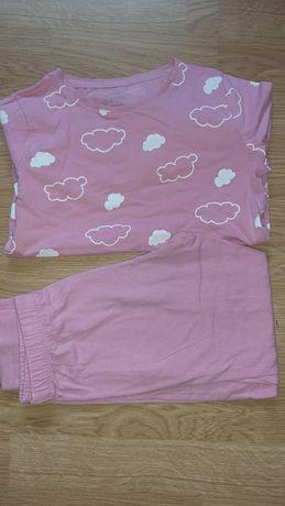F&F piżama z dł rękawem r 128 chmurki
