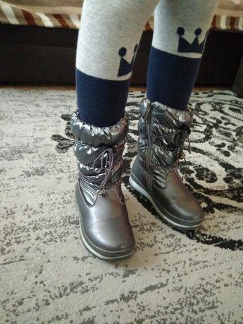 Зимові чобітки дутики, сапоги зима