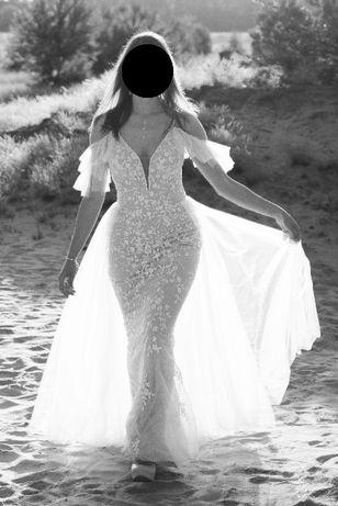 Suknia ślubna - rybka, koronka, tiul, hiszpanka, odpinana spódnica