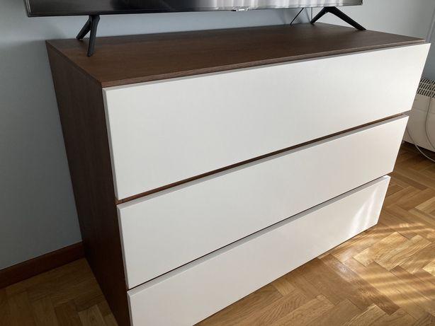 Comoda carvalho e lacado branco 1.10x50 como nova