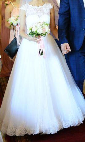 Suknia ślubna roz 34 Welon i pokrowiec GRATIS