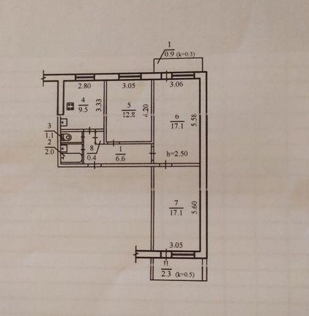 Продам 3 комнатную квартиру ж/м Парус IR
