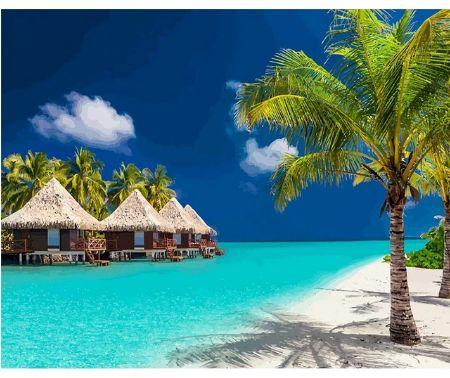 """"""" Bora Bora bungalowy """" obraz do malowania po numerach"""