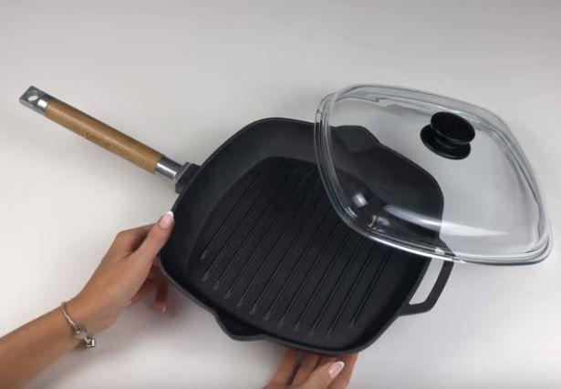 Сковорода-гриль чугунная Биол - 260 мм 342536