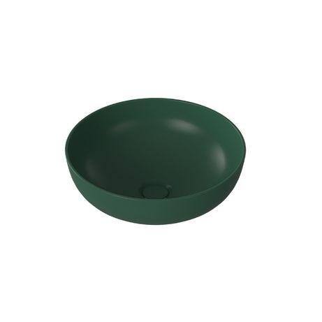 OUTLET Umywalka nablatowa MOLIS Green zielona półmat