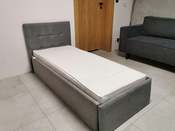 Łóżko dziecięce tapicerowane 160x70 z pojemnikiem + materac lateksowy