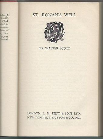 St. Ronan's well_Walter Scott_Everyman's Library