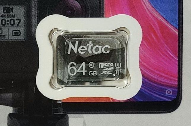 64Гб Карта памяти micro SD Netac 64Gb microsd