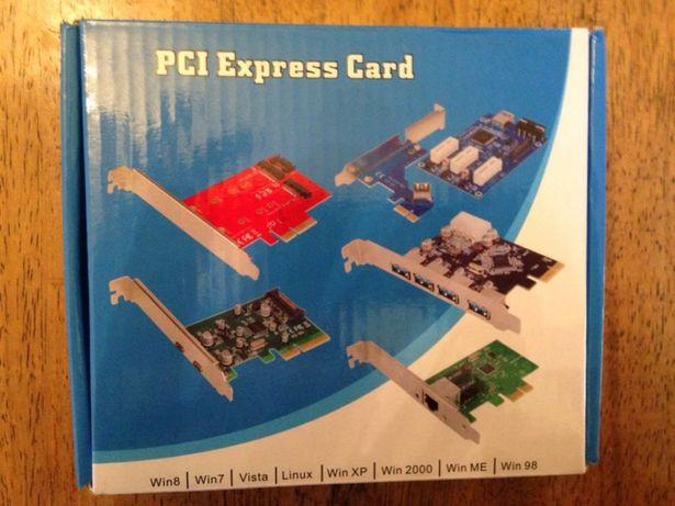 Плата расширения слотов PCI-E 1 x 3 райзер-переходник тройник