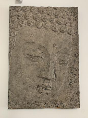 Vendo quadro grande de Buda decoração imitar pedra