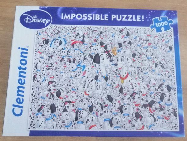 Puzzle 1000 elementów – Clementoni Impossible 101 Dalmatyńczyków
