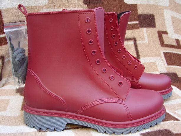 SALE! Новые резиновы ботинки Dr. Martens, размер 41, стелька 26 см