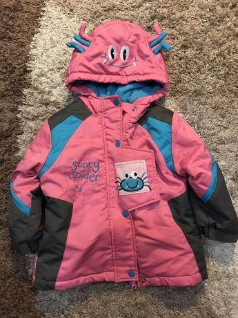 Комплект зимовий комбинезон куртка штани детский 3р на дівчинку
