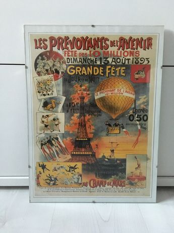 Retro plakat Paryz A4 antyrama