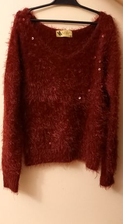 Sweter bordowy..