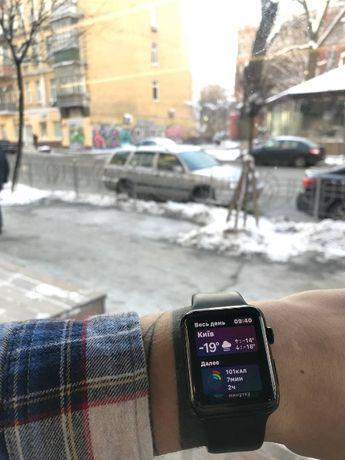 Часы Apple Watch Series 1 42mm Space Gray Aluminum черный ремешок
