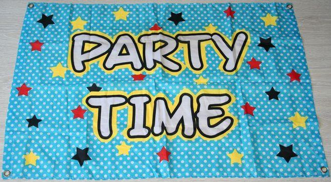 Party time ozdoba na urodziny baner urodzinowy dla dziecka!
