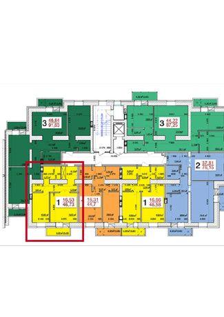 Продам 1 комнатною квартиру вместе с кладовкой в ЖК «Олімпійський»