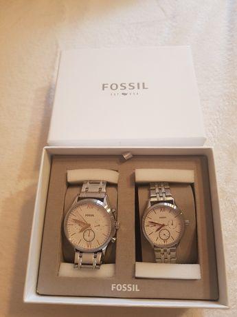 Komplet zegarków Fossil na prezent dla pary