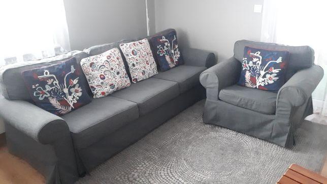 Sofa 3-osobowa Evertsberg plus fotel ektorp IKEA